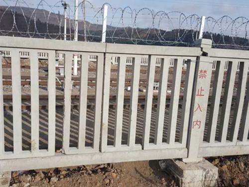 哈佳高铁路基栅栏封闭工程